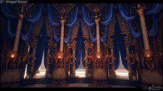 ACeye Anton Cheikin and Ekaterina Stoycheva Fantasy Castle, High Fantasy, Medieval Fantasy, Fantasy World, Fantasy Art, Concept Architecture, Beautiful Architecture, Bg Design, Episode Backgrounds