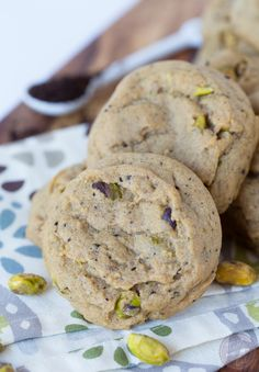 Mocha pistachio cookies are the perfect snack for that afternoon pick-me-up!