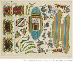 Gondole vénitienne, Imagerie d'Epinal, Pellerin, 1869