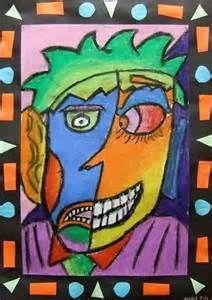 5th Grade - Picasso-Style Portraits