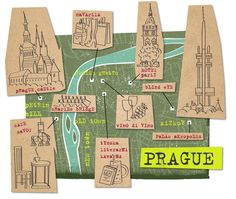 Prague, Czech Republic. Map illustration by Nate Padavick.