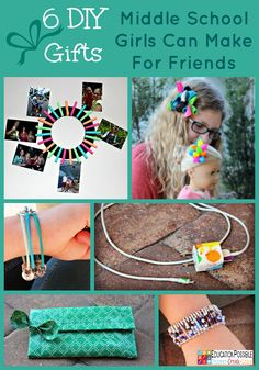 6 DIY Gifts Middle School Girls Can Make For Friends @EducationPossible The holidays are a wonderful time for middle schoolers to consider making something cute for their friends. My teen, Abigail, chose 6 fun, yet simple projects she wanted to create. Each one requires few materials and little time.