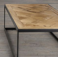 Reclaimed Oak Parquet Coffee Table