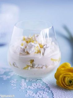 Finnish Recipes, Food N, Sweet And Salty, Something Sweet, Panna Cotta, Special Occasion, Deserts, Ice Cream, Pudding