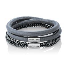 Wild Hearts leather & hematite bracelets. #emmaandroe #michaelhill