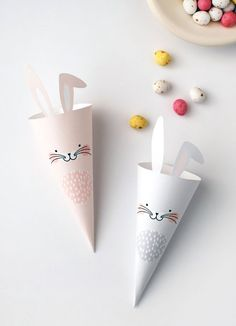 Free Easter Printables: Easter Bunny Treat Cones | We are Scout