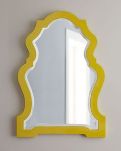 Yellow-Framed Mirror at Horchow.
