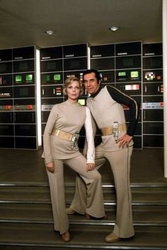 Space: 1999  married in real life, at the time, Barbara Bain and Martin Landau  as Dr. Helena Russel and Commander John Koenig.  #space1999  #eagletransporter
