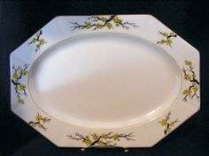 MyottBlossom1916Mustard Trim Platter Vintage by KissingKansasWinds, $49.99