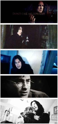 """Snape telling Harry he is not a coward.   29 Times Tumblr Made """"Harry Potter"""" Fans Cry All Over Again"""