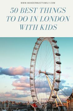 Guide of 50 Best Things to do in London with kids of all ages. From museums, parks, and much more here are the most kid friendly things to do in London! Europe Destinations, Europe Travel Tips, European Travel, Travel Guides, Travel With Kids, Family Travel, London With Kids, Summer In London, Budget