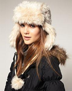 Warehouse Faux Fur Trapper Hat