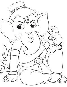 Coloring page: Hindu Mythology: Ganesh (Gods and Goddesses) #39 - Printable coloring pages