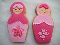 Matryoshka Doll Cookies