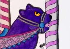 ACEO CAROUSEL PURPLE PANTHER ON EBAY