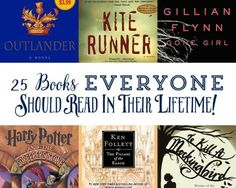 25 books everyone should read in their lifetime