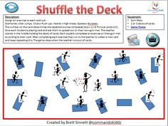 THREE GREAT #PHYSED GAMES USING PLAYING CARDS