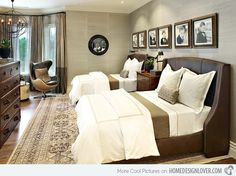 20 Bedrooms With Identical Twin Beds | Home Design Lover