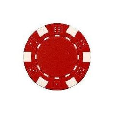 Da Vinci Red 50 Clay Composite Dice Striped 11.5-Gram Poker Chips