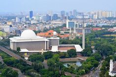View of Istiqlal Mosque which is the biggest mosque in Jakarta. #mosque #istiqlal #jakarta #indonesia