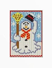 FROSTY SNOWMAN BEADED BANNER PATTERN