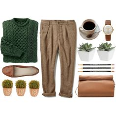 Coffee by navisya on Polyvore featuring Zara, Junghans, Pier 1 Imports and Nearly Natural