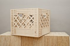 A multi-functional classic, constructed in plywood.Dimensions:Small: 13.5 x 13.5 x 11 in.Large 13.5 x 18.5 x 11 in.ON SALE: 25% OFFHappy Holidays!All Crates are made to order.  Please allow 2 weeks for shipping.