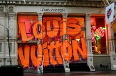 I didn't know Louis Vuitton had it in 'em, totally awesome Graffiti Inspired LV…