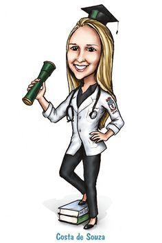 Medicine Graduation. #caricatura #caricature. costadesenho@gmail.com