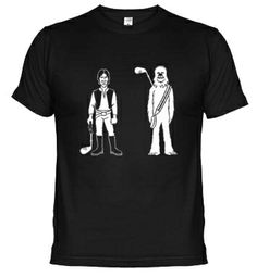 Star Wars Golfers. Han Solo and Chewbacca. #golf #films #starwars #tshirt