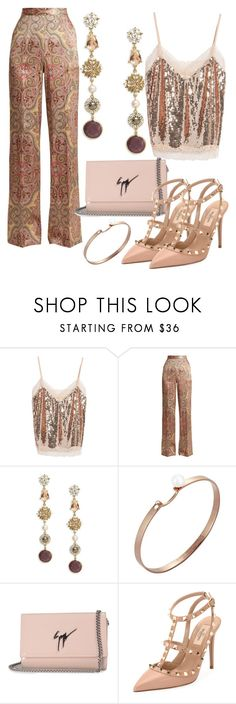 """#PolyPresents: Fancy Pants"" by elenkajaia on Polyvore featuring Soprano, Etro, Badgley Mischka, Nouvel Heritage, Giuseppe Zanotti, Valentino, contestentry and polyPresents"