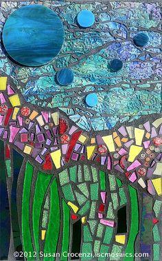 Cosmic Garden, mosaic web Susan Crocenzi