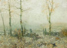 """""""Edge of the Woods,"""" Bruce Crane, ca. 1910, oil on canvas, 22 x 30"""", private collection."""