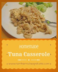 Whenever it's cold outside, I love to turn to warm, comfort foods like this creamy and delicious homemade tuna casserole. Or for you true Minnesotans… tuna hotdish! Clean Recipes, Delicious Recipes, Easy Recipes, Easy Meals, Tasty, Supper Ideas, Dinner Ideas, Dinner Recipes, Tuna Casserole Recipes