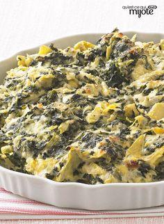 Trempette aux artichauts, aux épinards et au fromage #recette