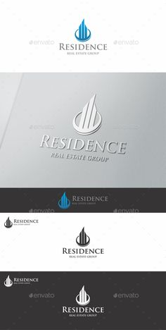 Residence Real Estate Logo - This is a clean and elegant Real estate logo. Professional and elegant logo suitable for construction, real estate, realty, mortgage, property business, building company, builders, hotel and resort business, etc. It stands out and instantly recognizable. Perfect for Property seller or buyers, properties management, rent service, Housing agents, mortgage or home developers.