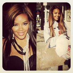 the MARIE bag & Angela Simmons, Vanessa's sister and known as daughter of Hip-Hop icon Rev Run (Run DMC) ..