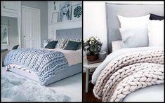 El material, suave y voluminoso, fue creado por accidente. Ahora la tendencia 'oversize knitting' está de moda y llena tableros de pinterest, tiendas de Etsy y es uno de los accesorios favoritos de los interioristas para esta temporada