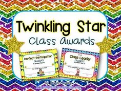 *Twinkling Star* Class Awards! Over 40 awards to choose from... perfect for your end of year classroom celebration. Also a nomination form if you want to invlove your students in selecting the receipients! :) $