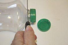 Mini Joyero con tapones de botellas de plastico