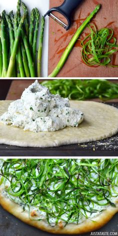 Asparagus and Ricotta Pizza #recipe