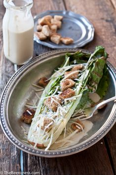 Grilled Romaine Salad with IPA Caesar Dressing - add grilled chicken for an easy meal