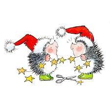 Image result for cute hedgehog christmas card diy