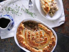 Turkey Leek Pot Pie with Sage & Walnut Studded Puff-Pastry