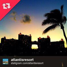 Atlantis Resort at night via Instagram.