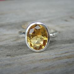 Size 9  Ready To Ship  Citrine Oval Rock FETISH by onegarnetgirl, $218.00