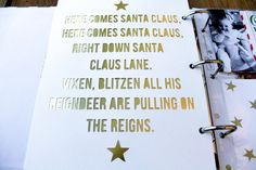 cut out text; back it in gold foil paper.