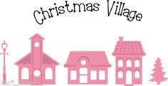 MARIANNE-COLLECTABLES-DIE-CUT-EMBOSS-STENCIL-CHRISTMAS-VILLAGE-HOUSES-COL1329