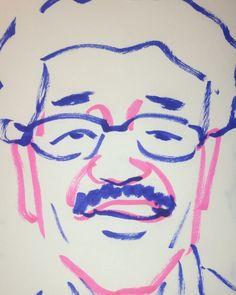 いいね!5件、コメント1件 ― @1mindrawのInstagramアカウント: 「#1mindraw #gushikenyoukou #具志堅用高 #19550626 #birthday #誕生日 #portrait #筆ペン画」