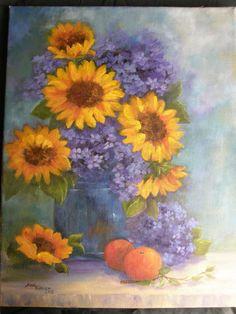Sunflowers and Oranges ..-.. Ann Turner